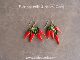 EARRINGS 4 CHILES GOLD