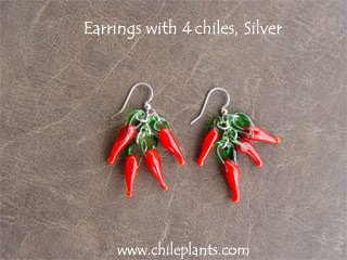 EARRINGS 4 CHILES SILVER