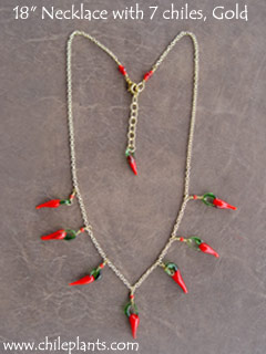NECKLACE 18in 7 CHILES GOLD