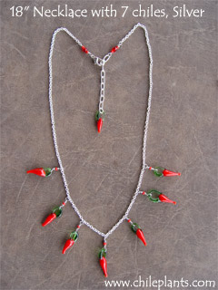 NECKLACE 18in 7 CHILES SILVER