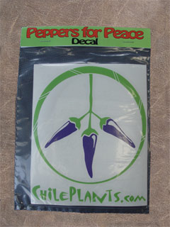 PEPPERS FOR PEACE DECAL PURPLE