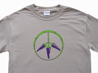 PEPPERS FOR PEACE T PURPLE MEDIUM