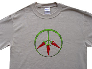 PEPPERS FOR PEACE T RED SMALL